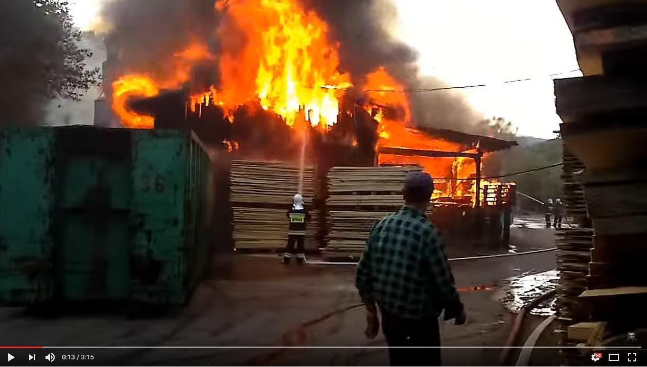Pożar tartaku
