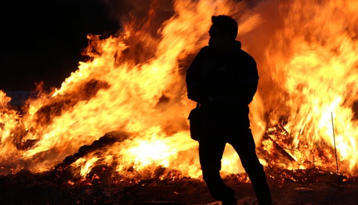 9# Pożar zabudowań gospodarczych